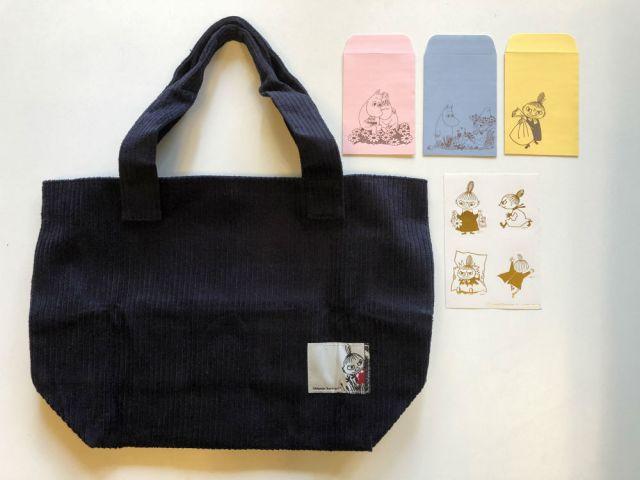 インレッド1月号付録「リトルミイのトートバッグ」は見た目以上の収納力! ムーミンのぽち袋&シールセットもかわいいよ
