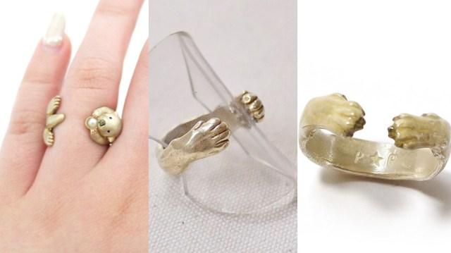 動物がハグしてくれる指輪「ハグリング」にほっこり! 肉球などもバッチリ再現されています♪