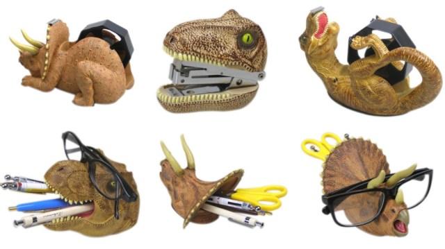 いかつい恐竜たちがオチャメな文房具に! デスクの上をジュラシックワールドみたいにしちゃお★