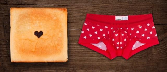 バレンタインは「パン」と「パンツ」を送ろう!? 下着メーカーとパン屋がコラボしたバレンタインギフトが攻めすぎぃい!