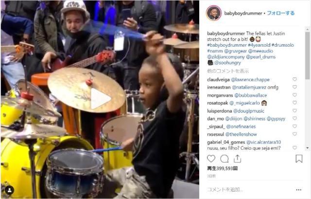 【超演奏】わずか4歳の天才ドラマーがアメリカで発見される! 神プレイを前にセッション相手も思わず演奏ストップ♪