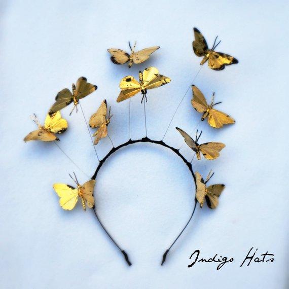 身につけたら間違いなく注目の的! 頭の上で蝶がひらひらと舞うヘッドドレスで春を感じよう♪