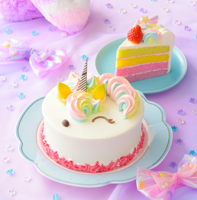 コージーコーナーから「ユニコーン」や「レインボー」のゆめかわなケーキが登場♪ ひな祭りにもピッタリです★