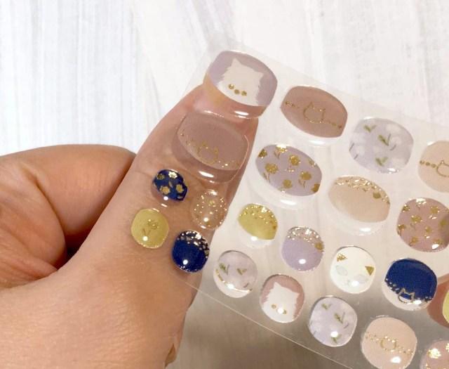 フェリシモの「ぷっくり猫ネイルシール」を使ってみた! チビ爪さんにもぴったりなサイズ感で使いやすいよ