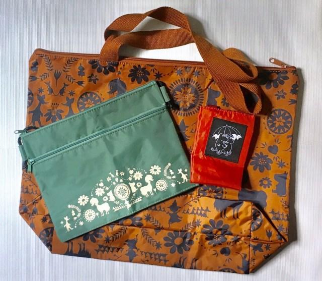 GLOW4月号付録のバッグ&サコッシュと傘カバーが実用性バッチリで使える〜! さりげないムーミンデザインも使いやすい