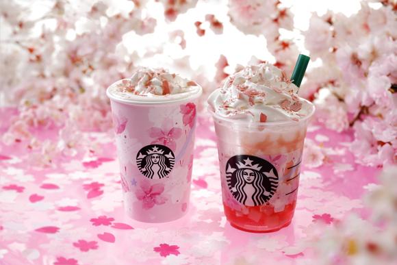 スタバの春の風物詩「SAKURAシリーズ」が今年も登場! 「さくらフルフラペチーノ」は満開の桜をイメージしたロマンチックなフラペです