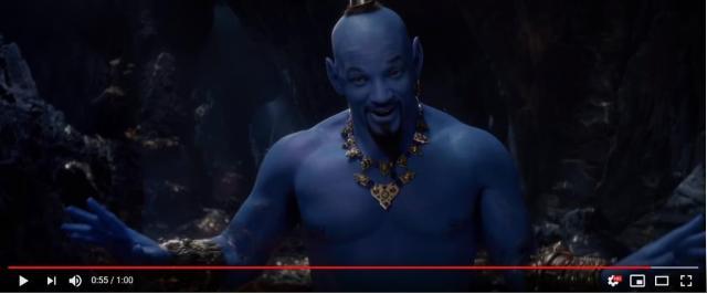 実写版『アラジン』でジーニーを演じるウィル・スミスが「青く塗ったウィル・スミス」でしかないと世界中で話題に