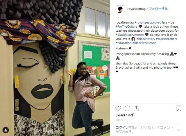 アメリカの「ブラックヒストリー月間」で教室のドアを大胆デコレーション!アフリカ系アメリカ人の歴史や文化に思いをはせる行事です