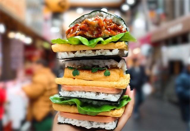 超豪快な「おにぎりバーガー」が大阪に登場やで〜!  神戸牛やぼっかけなど関西ならではの具材がいっぱいやねん★