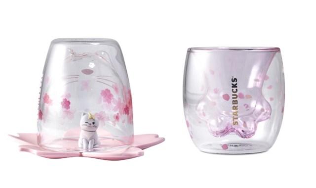 中国スタバ限定「桜グッズ」が可愛すぎる〜! 猫の手をモチーフにしたグラスなど猫アイテムも盛りだくさんデス♪