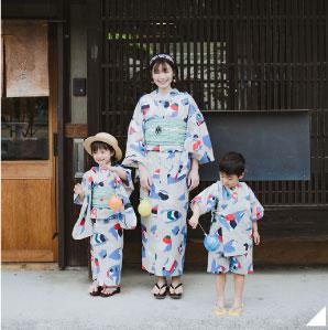 フェリシモ×Subikiawa食器店のコラボ浴衣がレトロかわいい~! 親子で着られるうえに帯と合わせても1万円以下だよ♪
