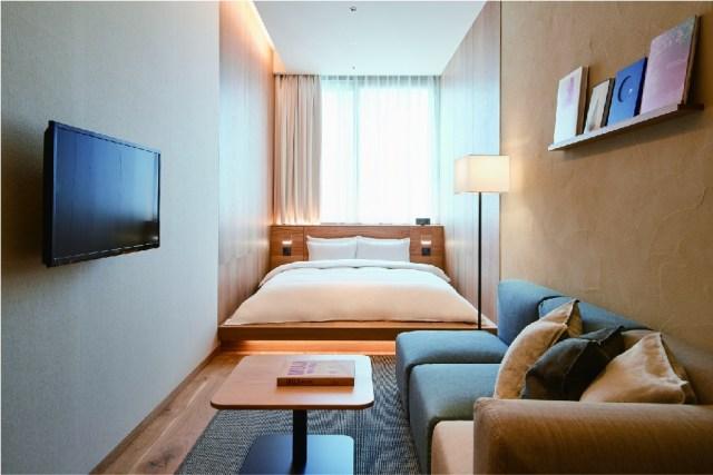 無印良品のホテル「MUJI HOTEL GINZA」の予約が3/20からスタート! 客室の内装や宿泊料金、店舗情報などくわしくご紹介します★