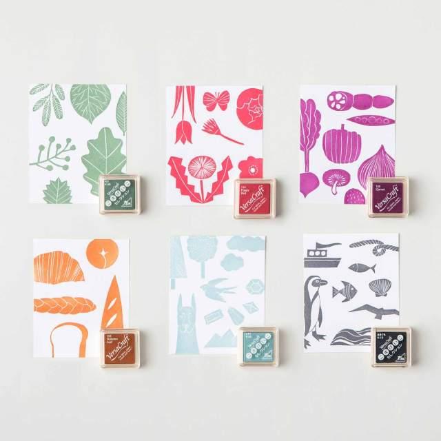 布にも紙にも使える「消しゴムはんこ」のキットが楽しそう!! ゆるかわいい図案で初心者でも気軽に作れるよ