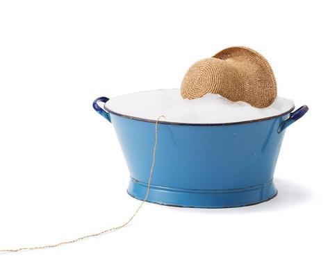洗える「麦わら帽子」て画期的。洗える和紙で実現しました