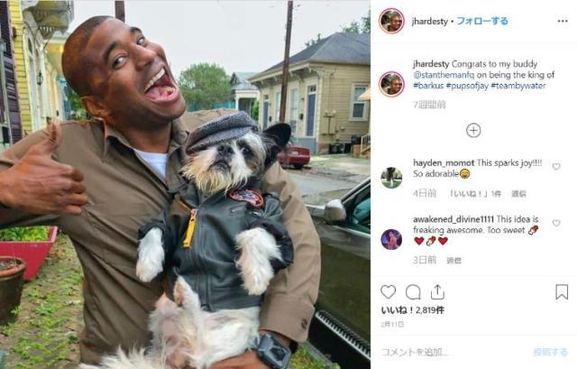 配送ドライバーが近所の飼い犬と写真をあげまくるSNSアカウントが大人気! 笑顔がまぶしすぎるよ〜!