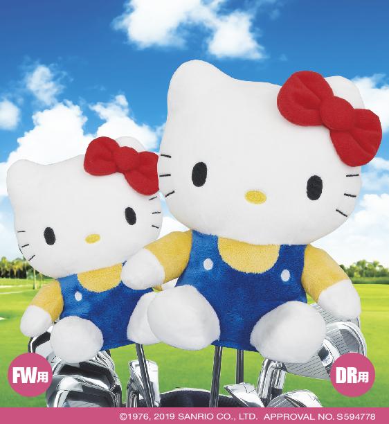 キティさんが身を挺してゴルフクラブを守る!? ヘッドカバーやゴルフマーカーなどキュートなキティアイテムが登場ですぞ★