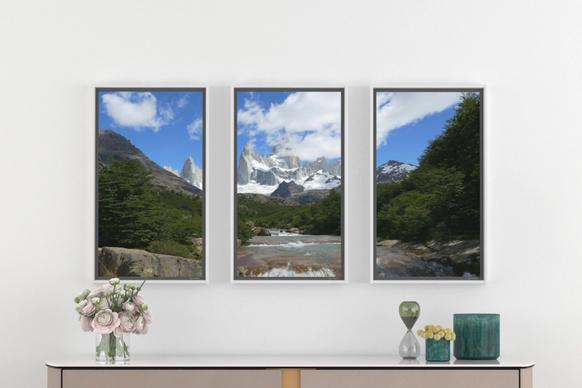 大きな窓みたいなスマートディスプレイでリラックス♪ 1000種類以上の世界の風景が楽しめるんだって