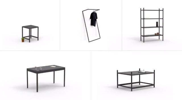 1つのセットで数種の家具にトランスフォームできちゃう! レゴみたいな家具が便利そうです