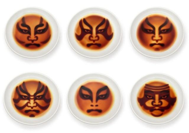 醤油をそそぐと「イヨォーッ!!」と歌舞伎の隈取が浮かび上がる! 粋な醤油皿がありました