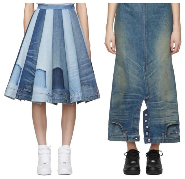 「それ、逆さまに履いてる~ッ!!」と総ツッコミなデニムスカートを発見★ 実は日本の有名デザイナーの作品です
