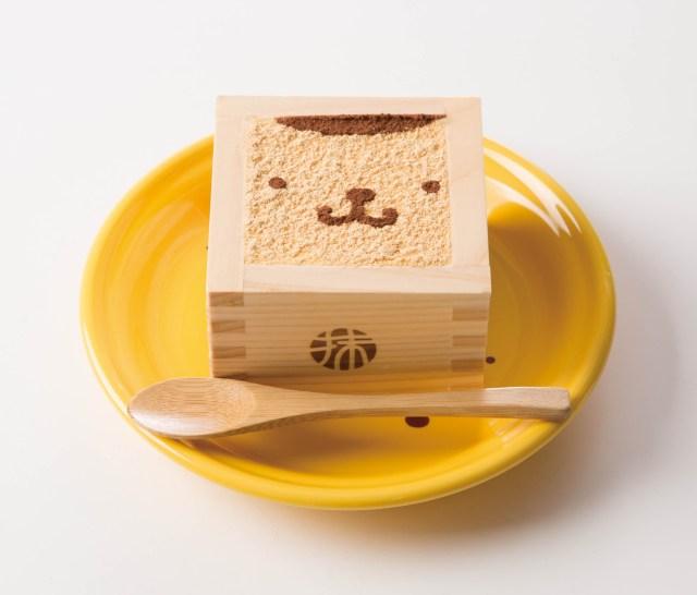 ポムポムプリンが人気の「枡入りティラミス」に!! 京都の人気カフェとコラボした「きなこティラミス」がめちゃめちゃ美味しそう