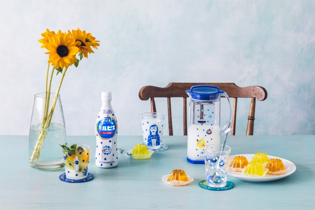 カルピスが100周年を記念してアフタヌーンティー・リビングとコラボ! 青と白の涼やかなグッズが夏にピッタリです