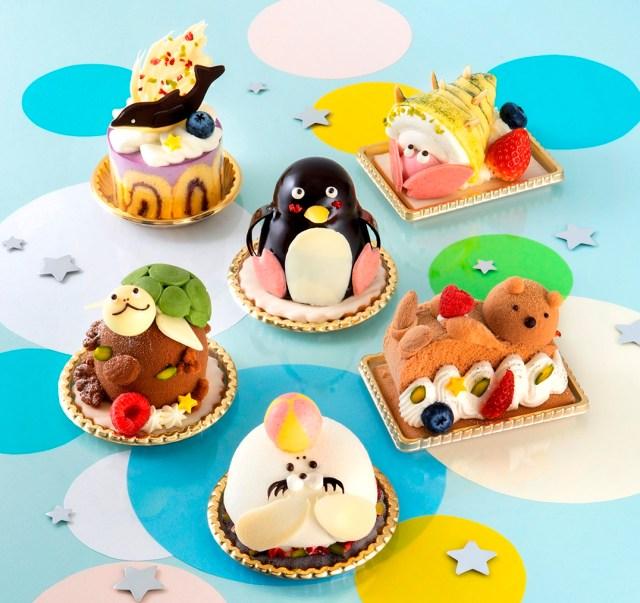 テーマは夏の水族館! アザラシやラッコなど海の生き物をかたどったユーハイムのケーキがかわいい♡