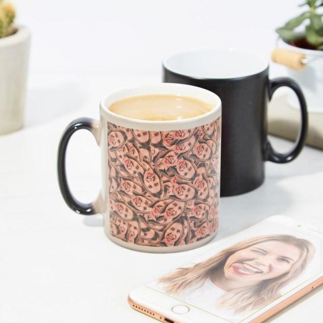 【悪夢かよ】顔写真をアップするだけでオリジナルのマグカップを作れる! でもこの柄…なんか思ってたのと違うよ!!