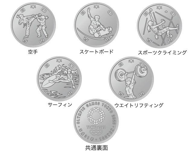東京オリンピックとパラリンピックの記念貨幣が登場するよ! 競技種目がデザインされています