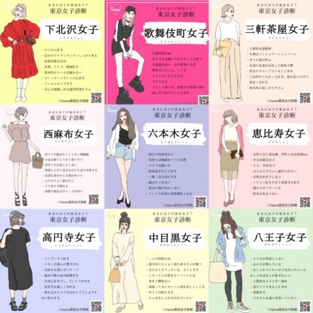 あなたは「東京のどの街によくいる」女子!? LINEで質問に答えるだけの『東京女子診断』で遊んでみた結果…