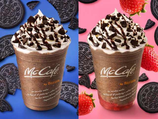 マックカフェに「オレオ チョコフラッペ」&「いちごオレオ チョコフラッペ」が新登場! これ絶対に美味しいやつじゃぁあん