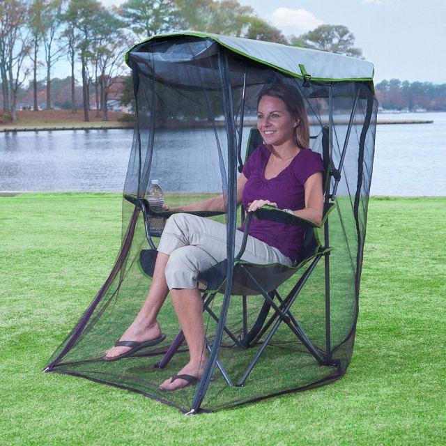 アウトドアで絶対に虫に刺されたくない人必見! 虫よけできる「蚊帳チェア」が便利そうな予感…