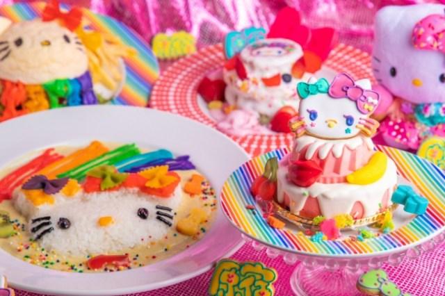 「カワイイモンスターカフェ」がハローキティとコラボ! 虹色のメニューや原宿仕様のキティさんなどKAWAIIの大渋滞だよ★