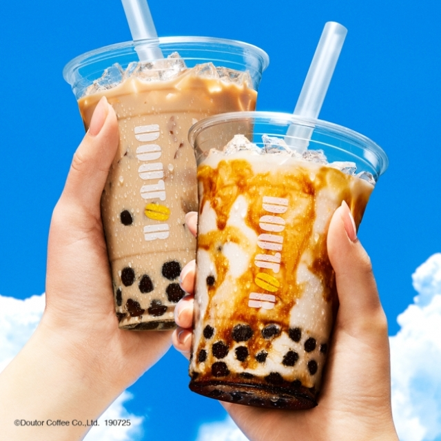 ドトールでもタピっちゃお★ 黒糖ミルクとロイヤルミルクティーのタピオカドリンク2種が登場するってよ~!!