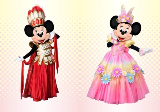 ミニーちゃんの歴代コスチューム83着から人気ナンバーワンを決める「ミニーのファッションコレクション」が開催中だよ!