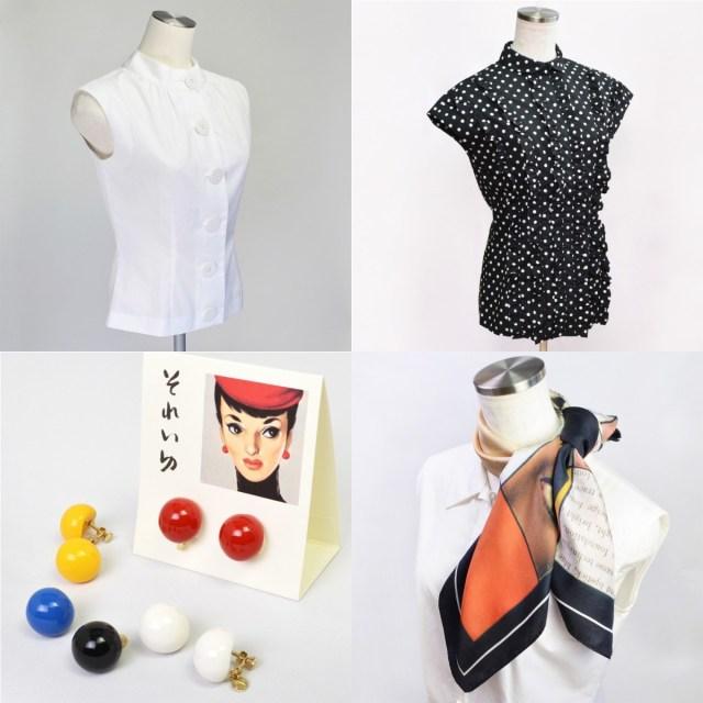 中原淳一のファッションアイテムが魅力的! イラストを忠実に再現したブラウスや魅力的なスカーフなど