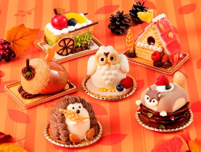 ユーハイムのケーキに森の動物たちが登場したよ! モモンガ、ハリネズミ、ふくろうが可愛すぎて食べられないぃぃい