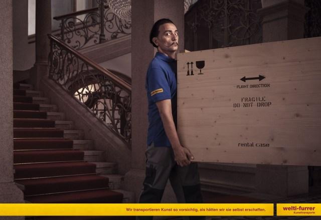 ダリやゴッホが自ら絵画を運んでる!? 海外の運送会社が発表したユニークな広告が話題に