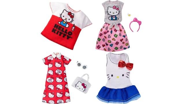 ハローキティ柄のかわいいお洋服み~つけた♡と思ったら…「バービー人形用」! 小物までキティを意識していてグッときちゃう