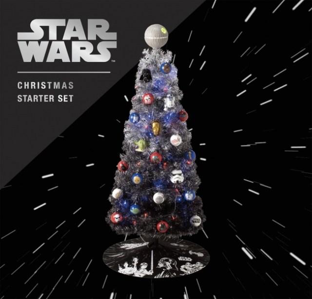 フランフランに「スター・ウォーズのクリスマスツリー」が登場! オーナメントは人気キャラで『ダース・ベイダーのマーチ』などBGM付きだよ
