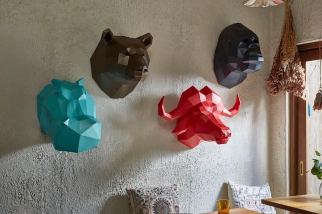 手作りする「紙製のアニマルオブジェ」がオシャレで画期的♪ ただし作るのは地味に大変そうですぞ…!