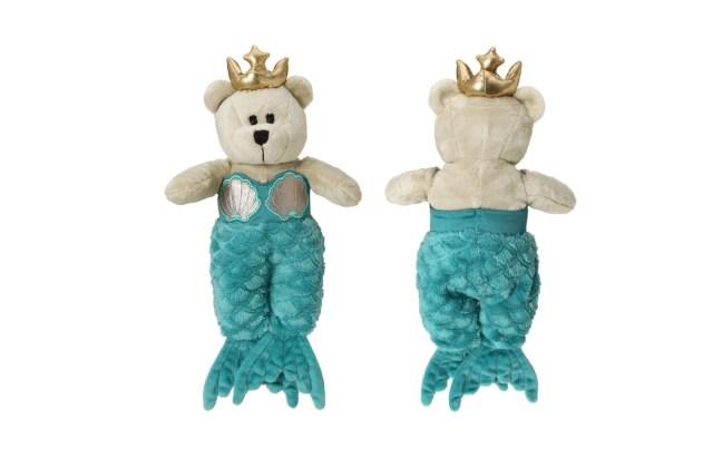 【スタバ】アニバーサリーグッズの「人魚になったクマ」がかわいすぎる! 人魚の尻尾が2つに分かれているところまで再現!