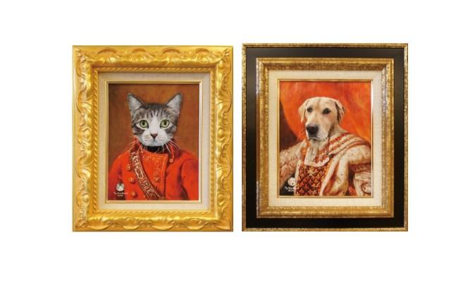 うちのワンコやニャンコが中世貴族風に…!! 油絵テイストのリアルな肖像画を作ってくれるお店を発見