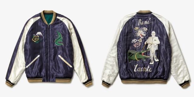 ラコステの「スカジャン」にマジで恋する5秒前! おなじみのワニや創始者ルネ・ラコステ氏が刺繍されているよっ