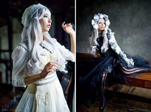 宇垣アナの麗しき「ハロウィン仮装」に惚れぼれ…真っ白なメイド風衣装とゴシックな黒いバラのドレスがよく似合ってます