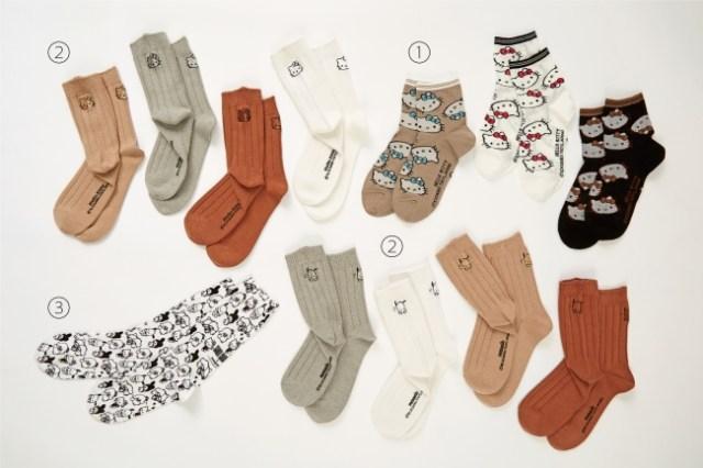 「靴下屋×サンリオ」コラボの靴下がオトナカワイイ~! ベージュやグレージュなど落ち着いた色合いがそろっています