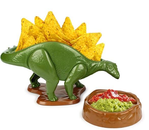 恐竜型のスナック容器が超使える! トルティーヤチップを盛れば「ナチョザウルス」などお菓子次第で自由に楽しめるよ★