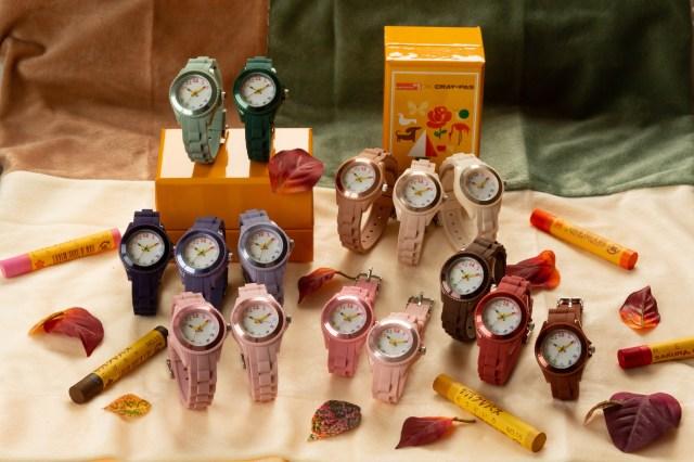 クレパスコラボの腕時計に秋冬にピッタリな15色が仲間入り♡ 全70色からお気に入りを選んじゃおう!