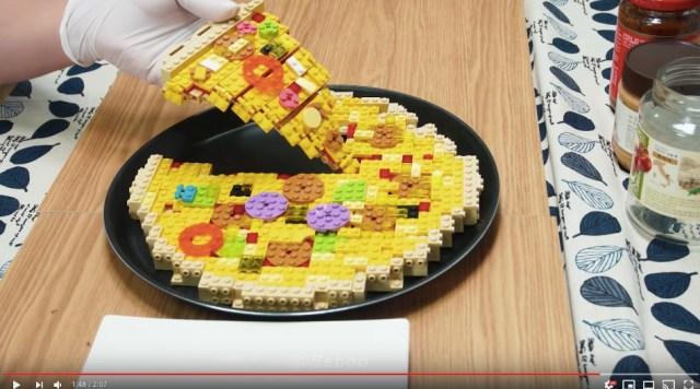 レゴなのにおいしそうなピザに見えて困る~! 3300枚の写真をつなぎ合わせて作った「レゴピザ動画」をご覧あれ★