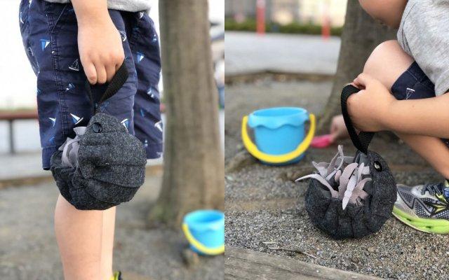 【超リアル】本物みたいにくるんと丸まる「ダンゴムシ巾着バッグ」がインパクト大! 細部までリアルに再現されているよ~!